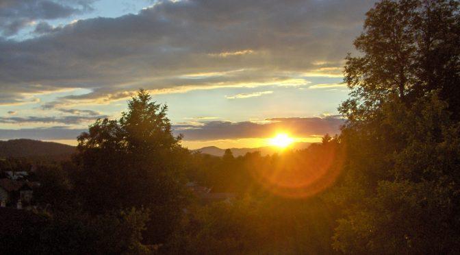 Západ slnka v júli 2018