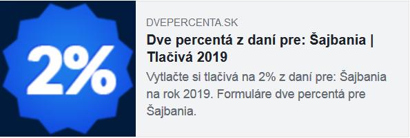 2% z daní pre FSk Šajbania